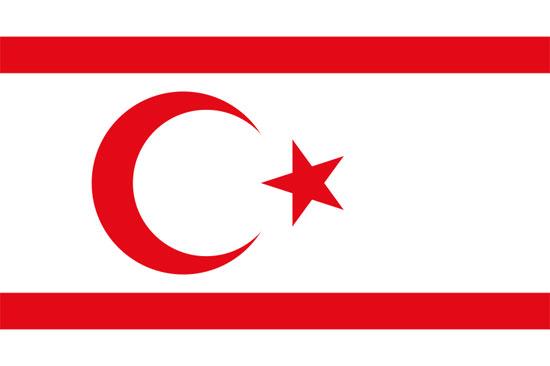 Bandera de República Turca del Norte de Chipre