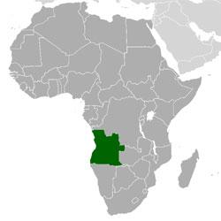 Mapa de Angola