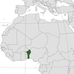 Mapa de Benín