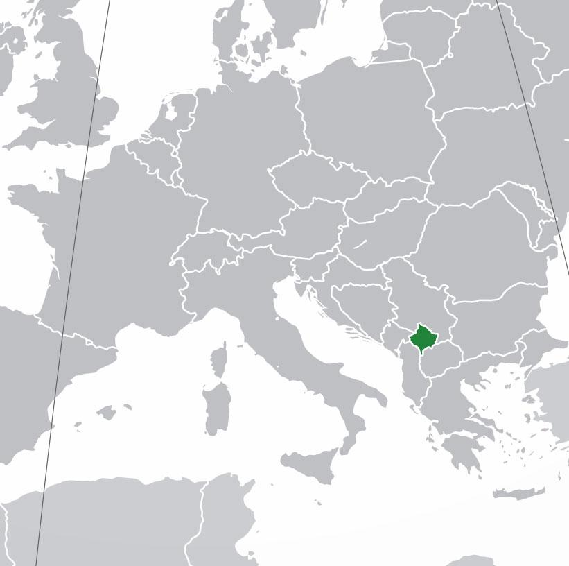 Mapa De Kosovo Donde Esta Queda Pais Encuentra Localizacion
