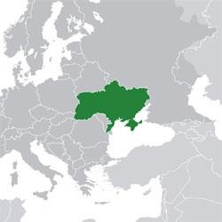 Mapa de Ucrania