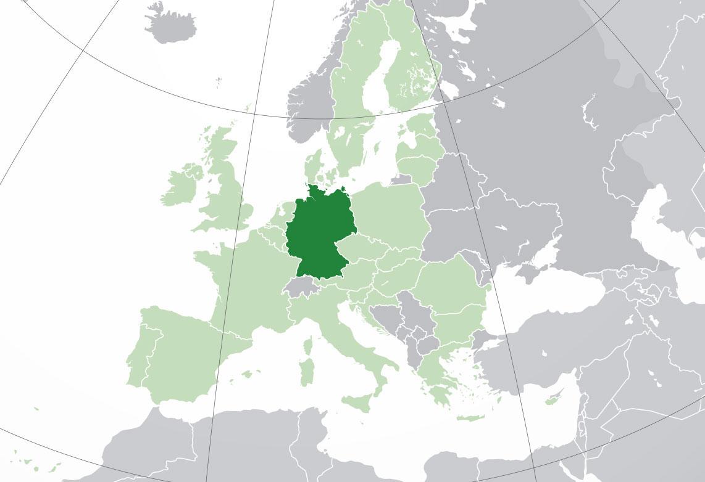 Localización geográfica de Alemania
