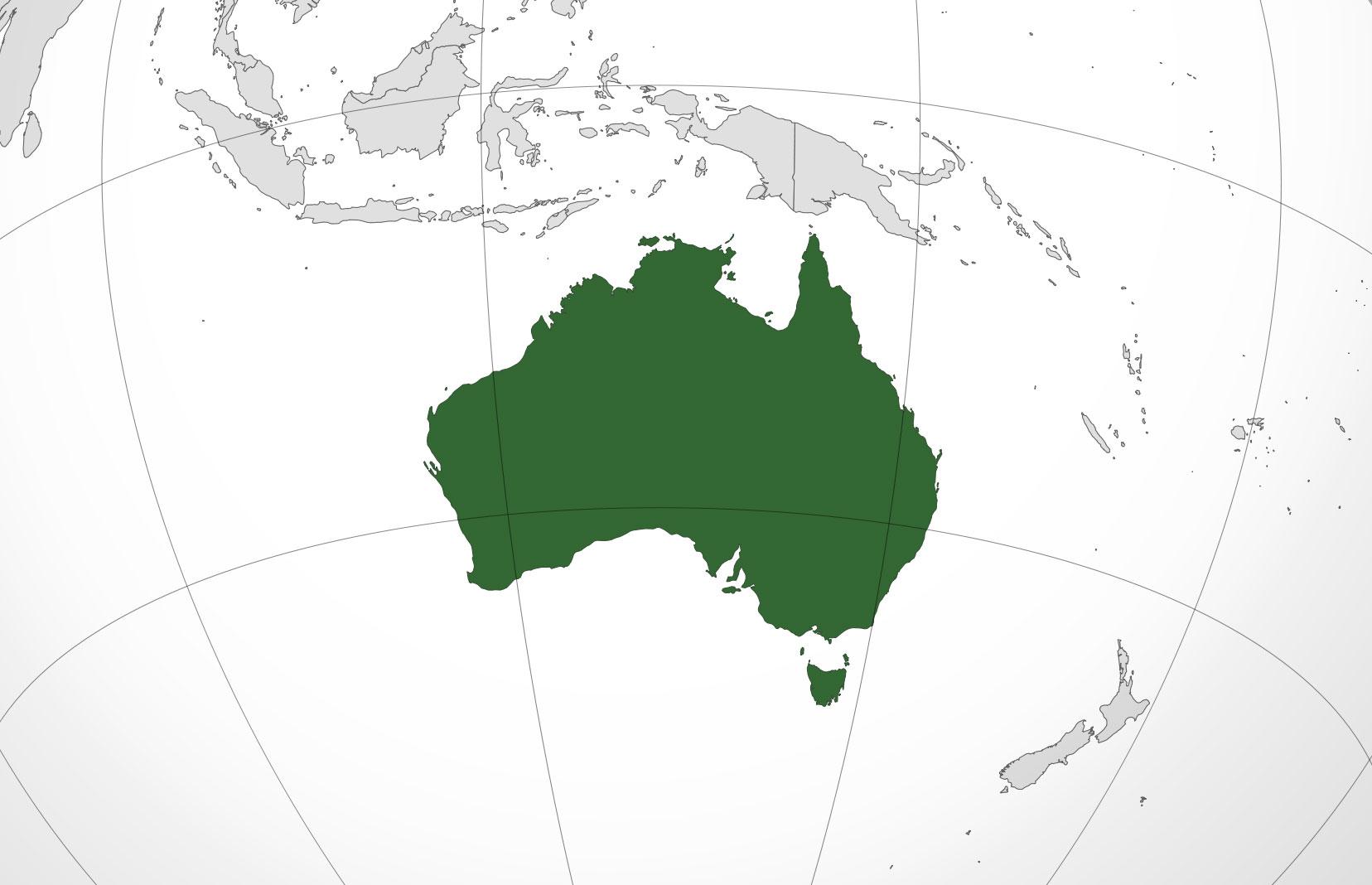 Localización geográfica de Australia