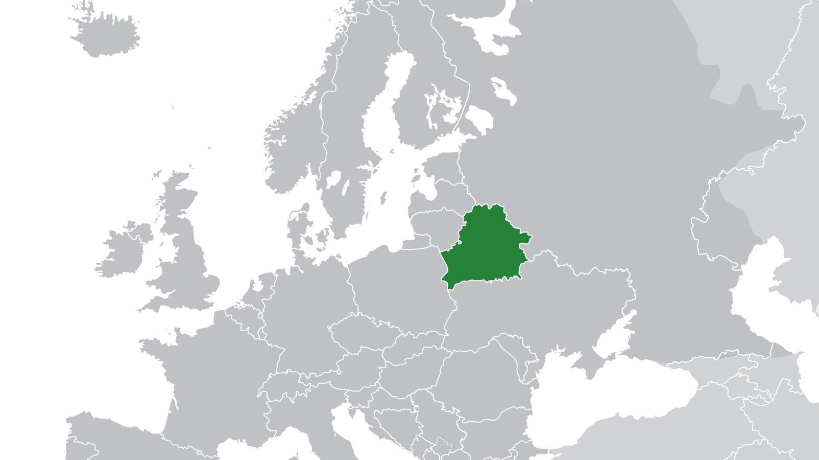 Localización geográfica de Bielorrusia