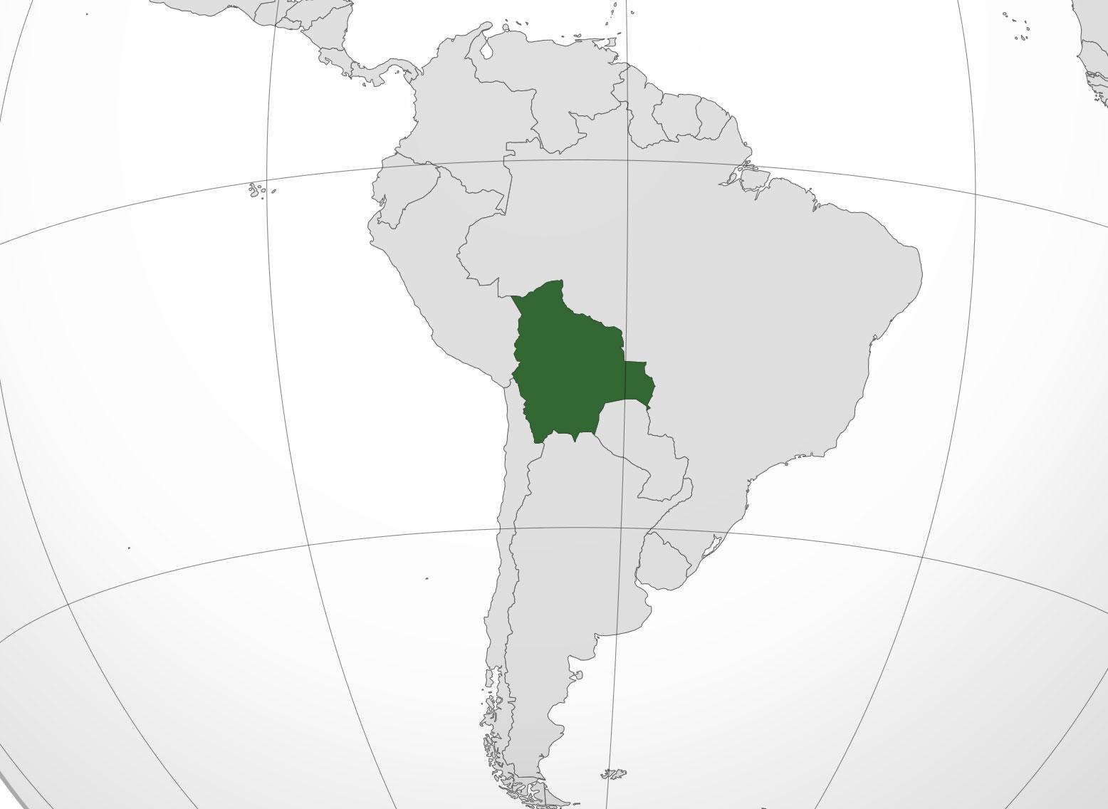 Mapa De Bolivia Donde Está Queda País Encuentra Localización