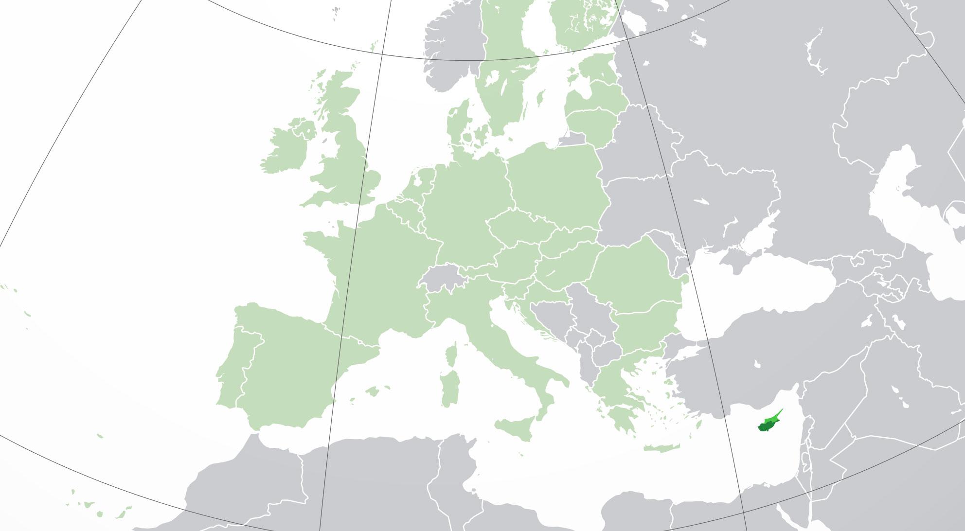 Localización geográfica de Chipre