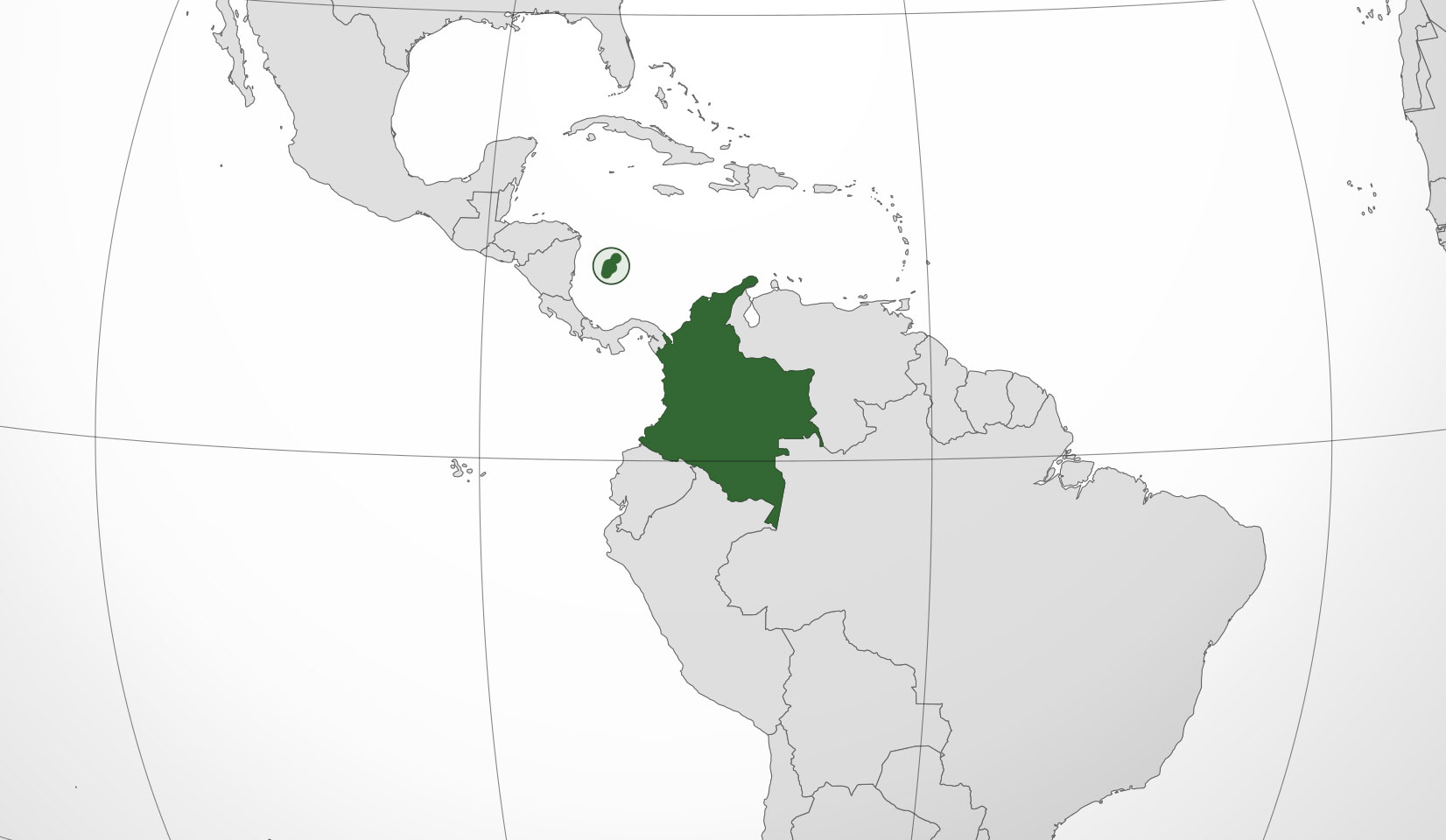 Mapa de Colombia, donde está, queda, país, encuentra, localización ...