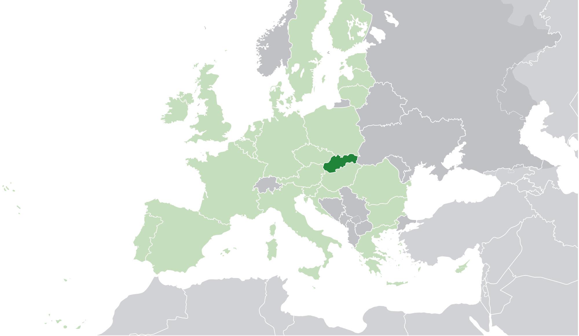 Mapa De Eslovaquia Donde Esta Queda Pais Encuentra