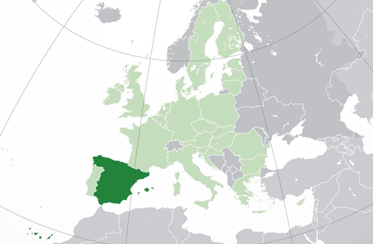Localización geográfica de España