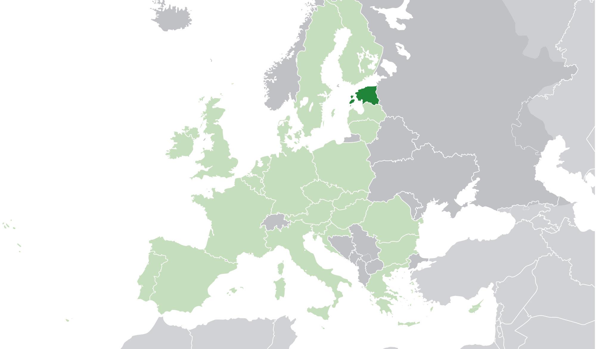 Localización geográfica de Estonia