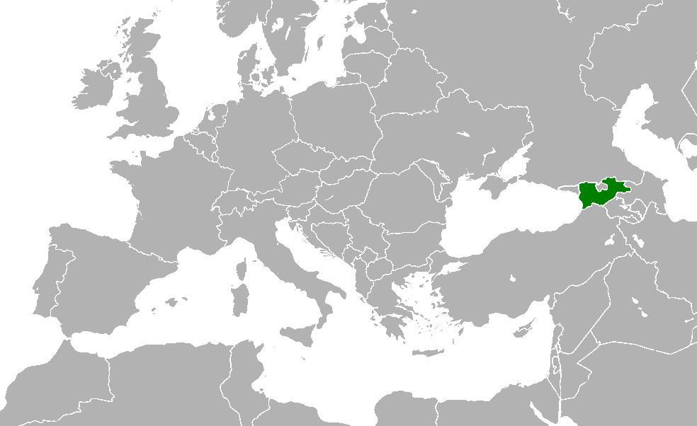 Mapa De Georgia Donde Está Queda País Encuentra Localización - Mapa de georgia
