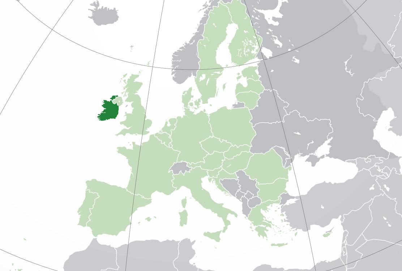 Localización geográfica de Irlanda