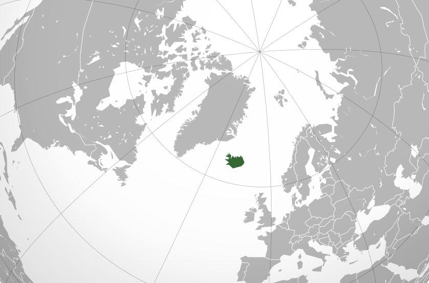 Localización geográfica de Islandia