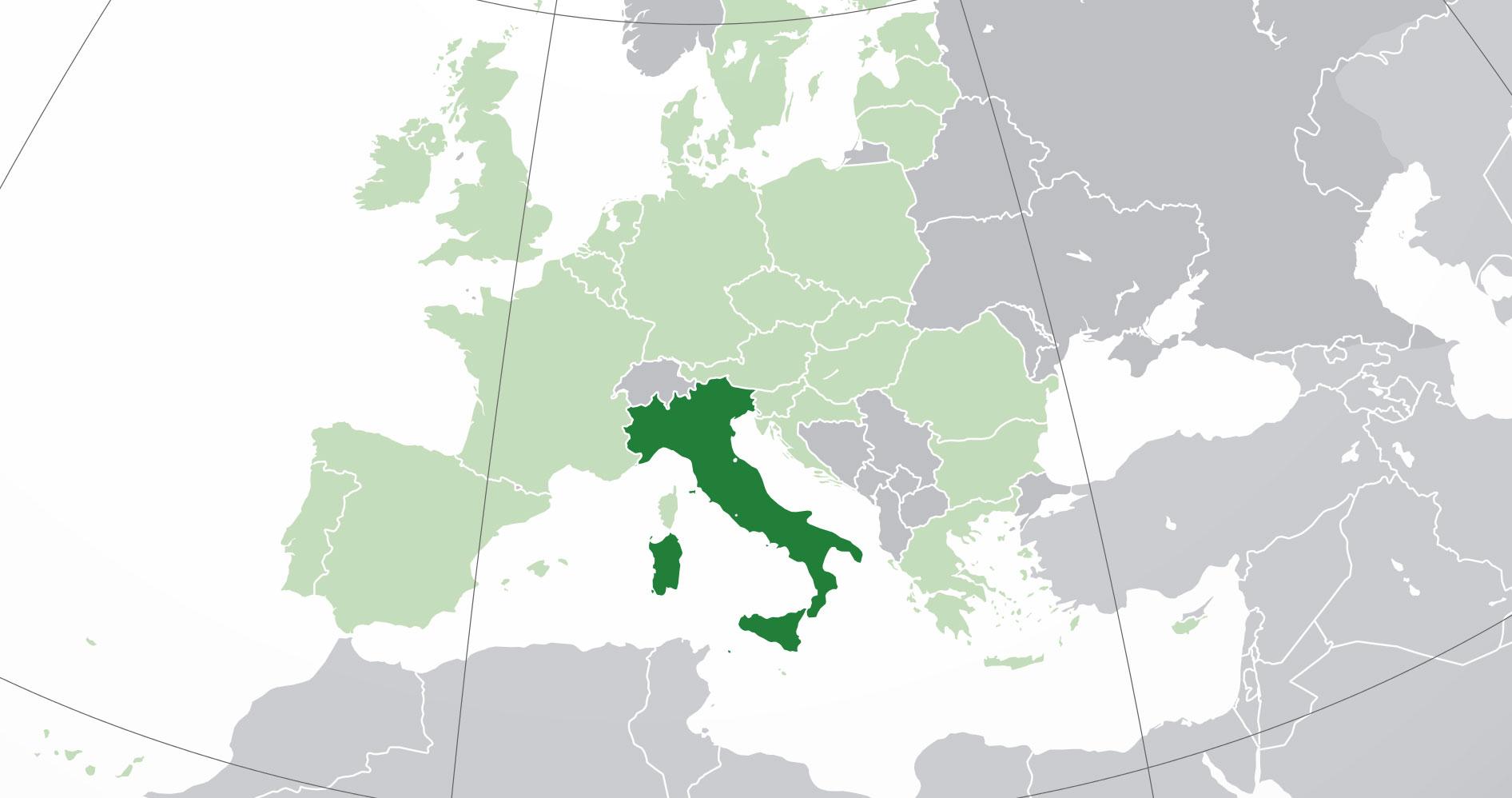 Mapa De Italia Donde Está Queda País Encuentra Localización - Mapa de italia
