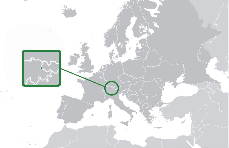 Localización geográfica de Liechtenstein