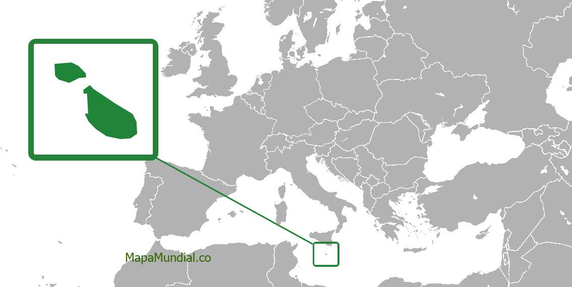 Localización geográfica de Malta