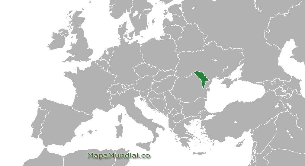 Localización geográfica de Moldavia