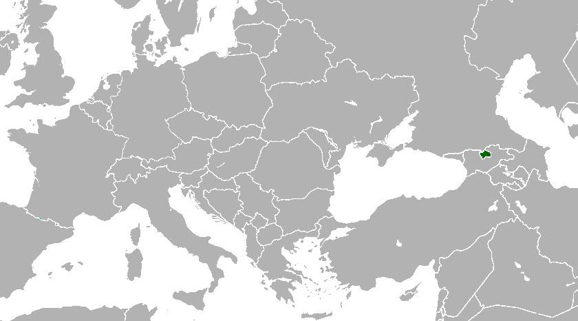 Localización geográfica de Osetia del Sur