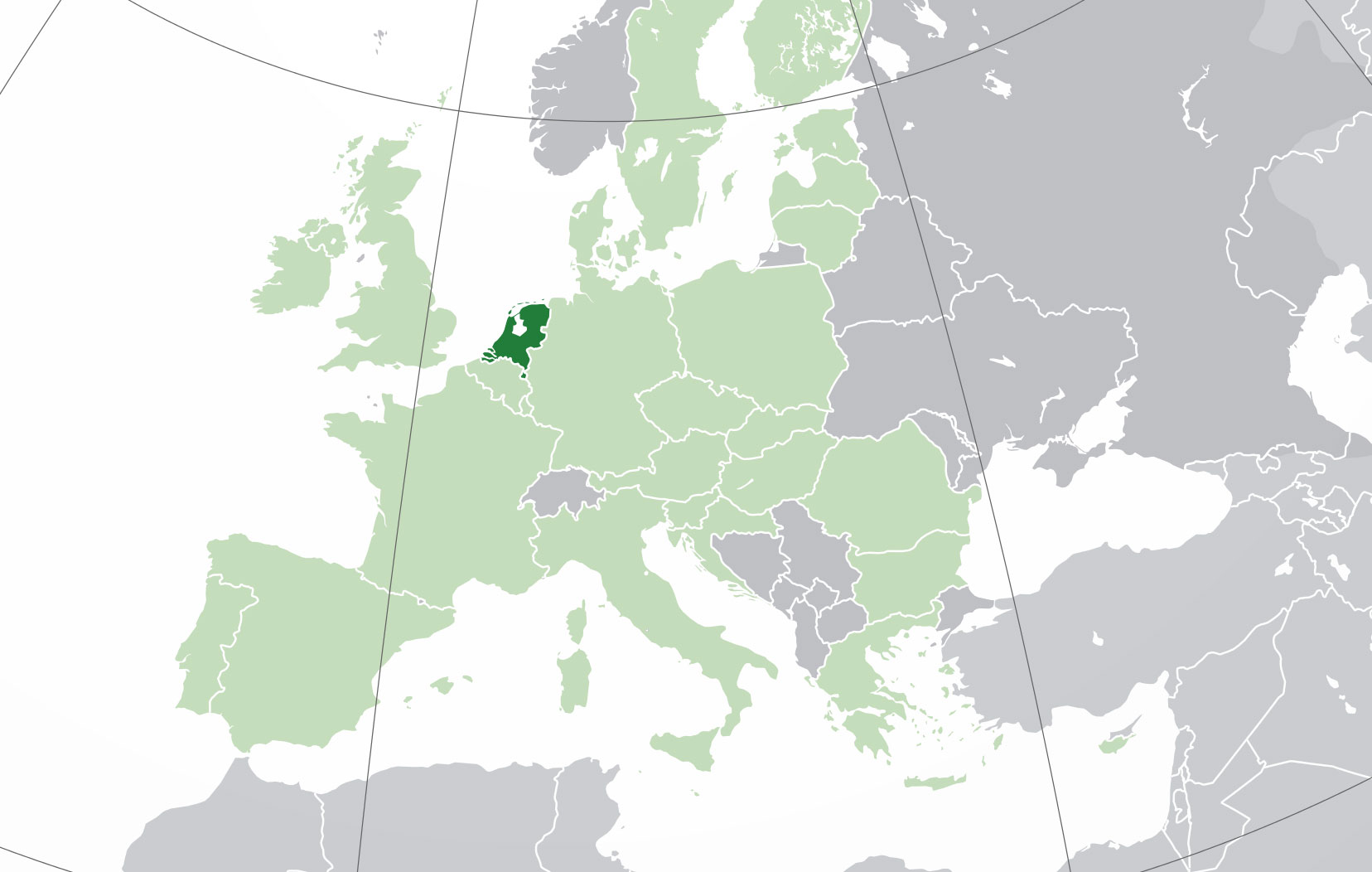 Localización geográfica de Holanda (Países Bajos)