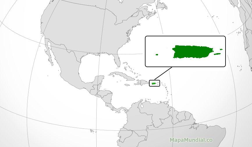 Puerto Rico Mapa Mundi.Mapa De Puerto Rico Donde Esta Queda Pais Encuentra