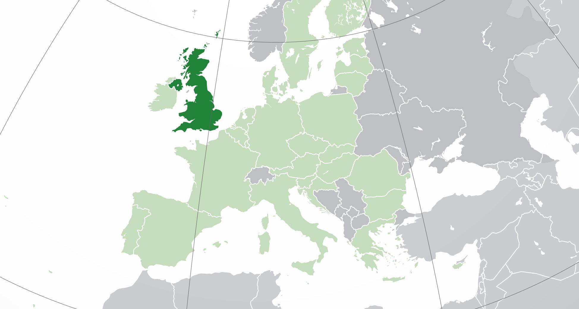 Mapa de Reino Unido, donde está, queda, país, encuentra ...