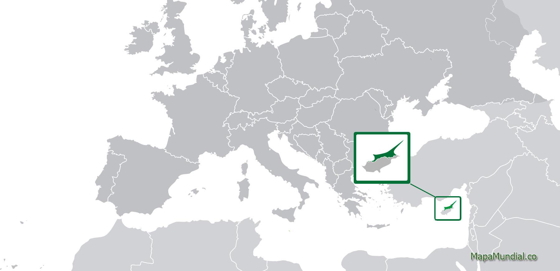 Localización geográfica de República Turca del Norte de Chipre