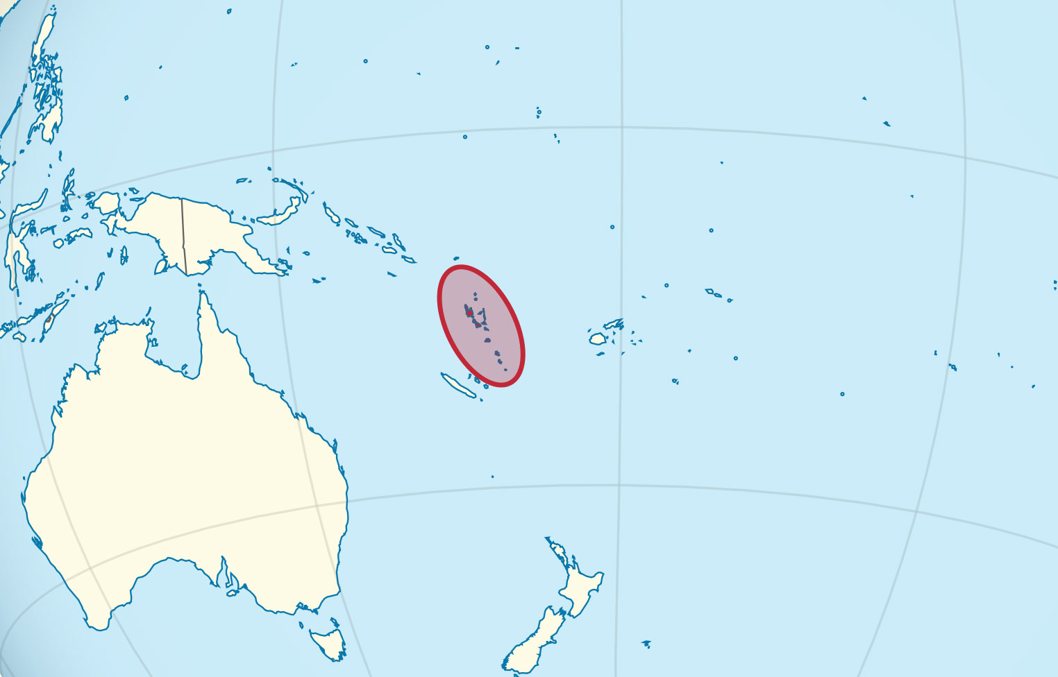 Localización geográfica de Vanuatu