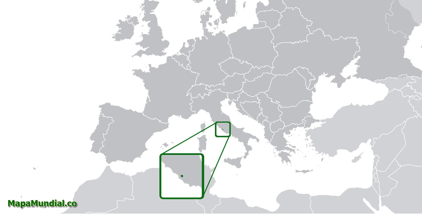 Localización geográfica de Vaticano