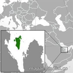 Mapa de Bahréin