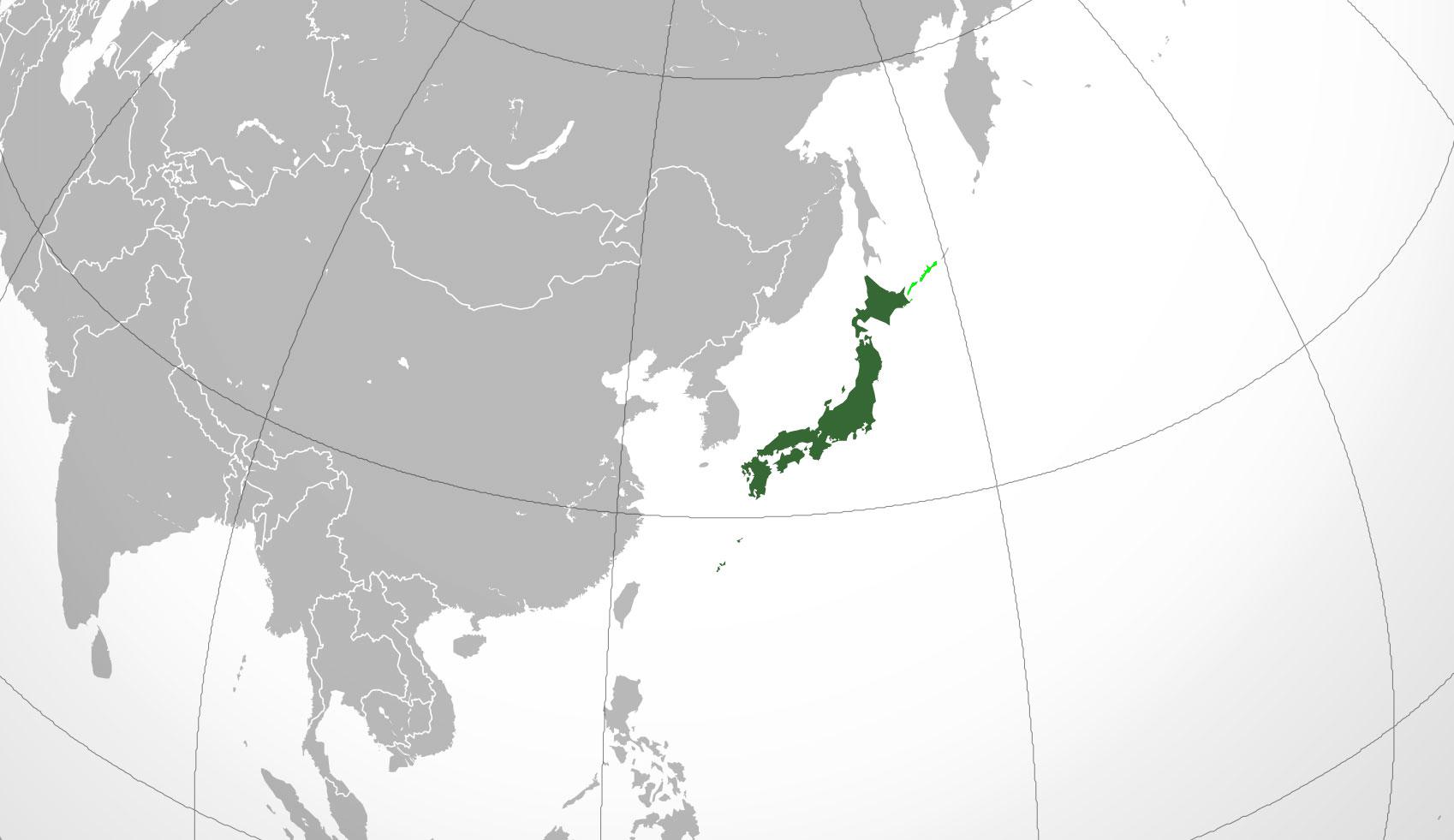 Mapa de Japón, donde está, queda, país, encuentra, localización ...
