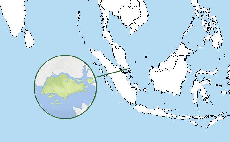 Mapa De Singapur Donde Esta Queda Pais Encuentra
