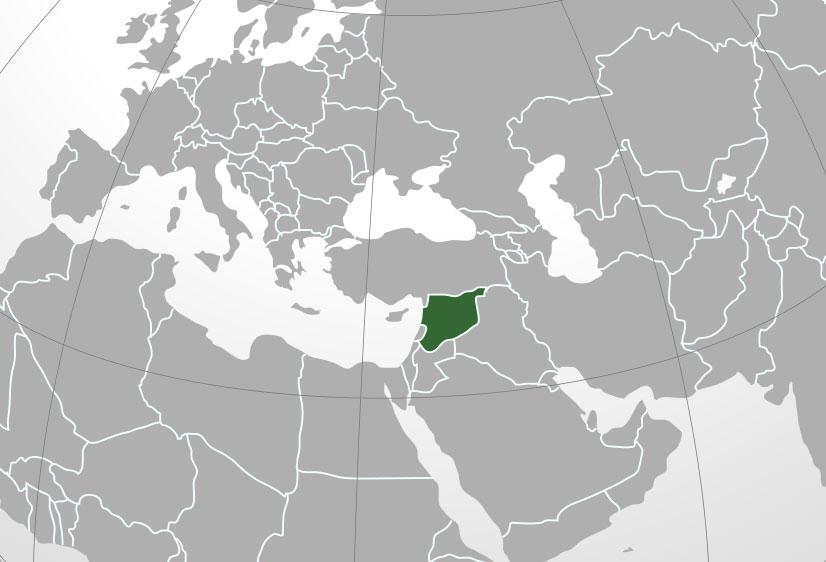Mapa De Siria Donde Está Queda País Encuentra Localización