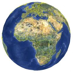 Mapa de Madagascar vista satelital