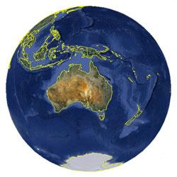 Mapa de Nauru vista satelital