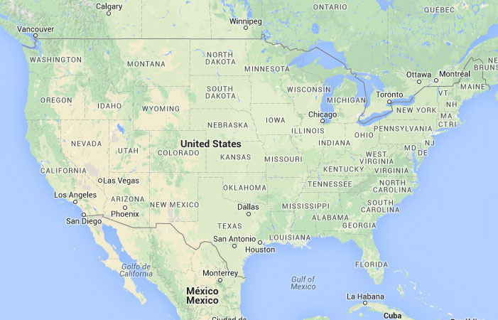 Mapa De Estados Unidos Donde Esta Queda Pais Encuentra