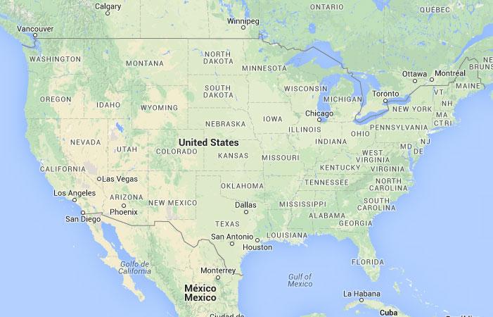 Mapa De Estados Unidos Donde Está Queda País Encuentra - Mapa de usa