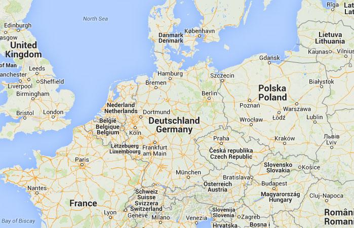 Mapa de Alemania donde est queda pas encuentra localizacin