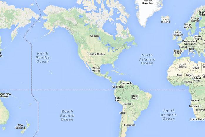 Mapa de am rica donde est am rica queda encuentra for Donde se encuentra el marmol
