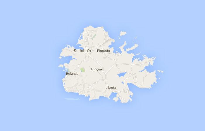 Mapa de Antigua y Barbuda donde est queda pas encuentra