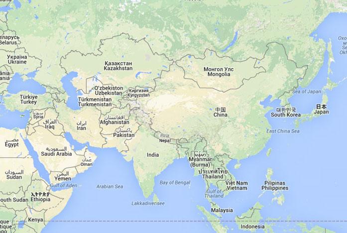 Mapa de Asia donde est Asia queda encuentra ubicacin