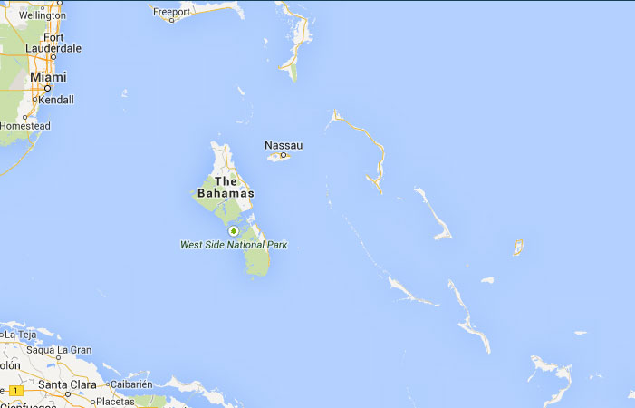 Mapa de Bahamas donde est queda pas encuentra localizacin