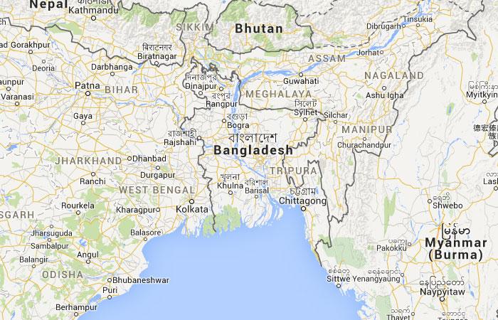 Mapa De Bangladesh Banglades Donde Esta Queda Pais