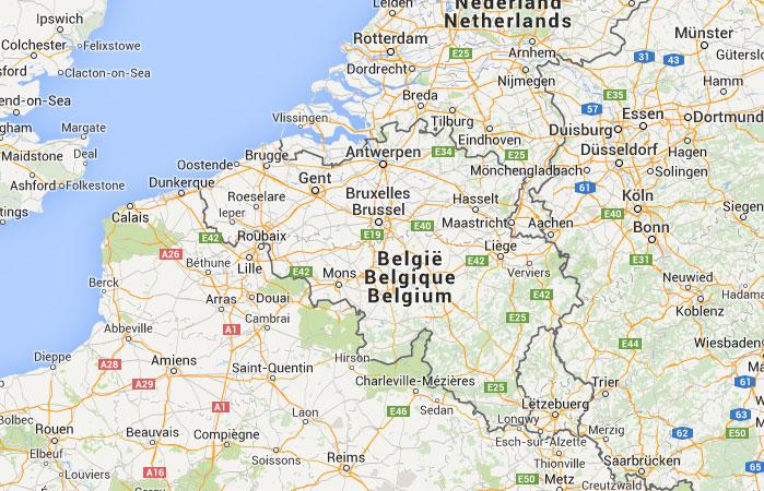 mapa grande mapa de blgica