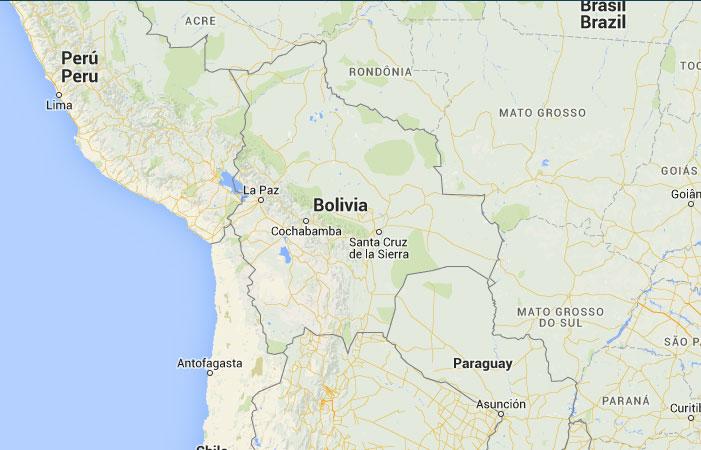 Mapa de bolivia donde est queda pa s encuentra for Donde queda santa cruz