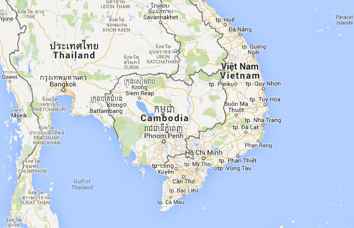 Camboja mapa capital for Marmol donde se encuentra