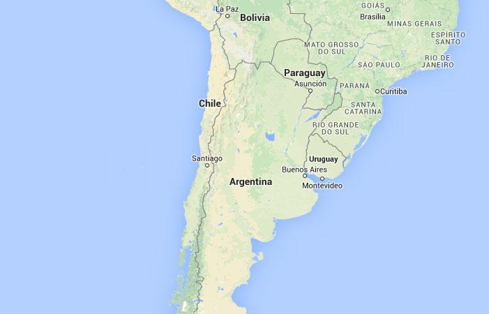 Mapa de Chile donde est queda pas encuentra localizacin