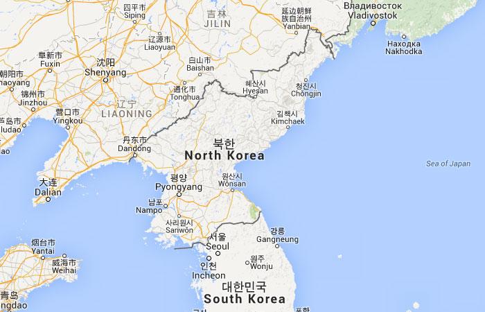 Mapa De Corea Del Norte Donde Esta Queda Pais Encuentra