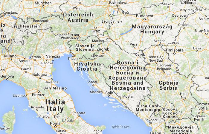 Mapa de Croacia