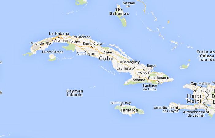 Mapa de Cuba donde est queda pas encuentra localizacin