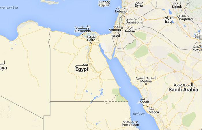 Mapa de Egipto donde est queda pas encuentra localizacin